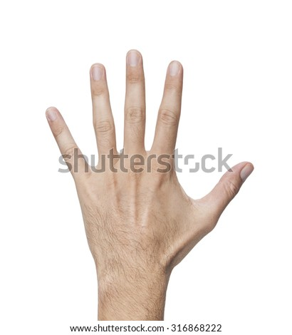 male's hand isolated