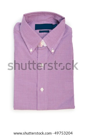 Male shirt isolated on the white background