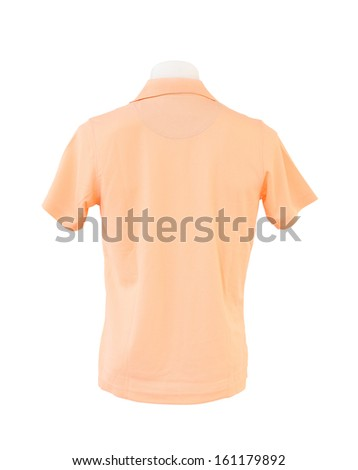 male shirt template on the mannequin on white background (with clipping path) - stock photo