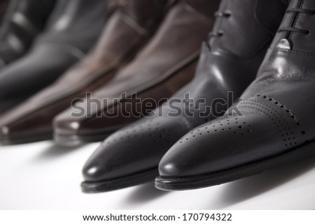 Male shoes in fashion concept  - stock photo
