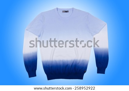 Male sweater isolated on