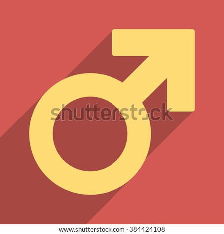 Male Symbol Long Shadow Glyph Icon Stock Illustration 384424108