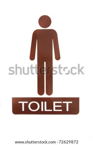Male toilet sign - stock photo