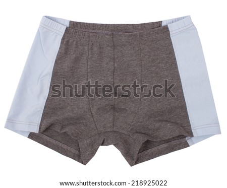 Male underwear isolated on a white background. - stock photo