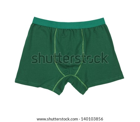 Male underwear isolated on the white background