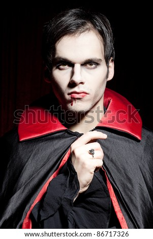 Male vampire - stock photo