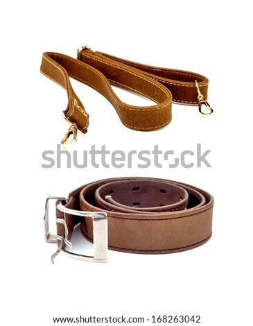 Male waist strap and a women's bag