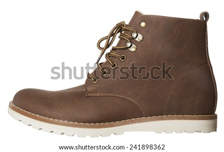 Male Winter boot isolated on white background - stock photo