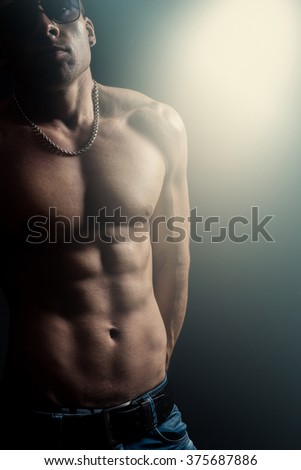 Male with naked torso