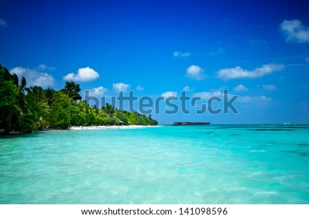 Maledives Ocean - stock photo