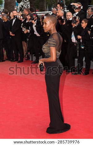 Malian singer-songwriter Rokia Traore, 'Irrational Man' premiere during the 68th annual Cannes Film Festival on May 15, 2015 in Cannes, France. - stock photo