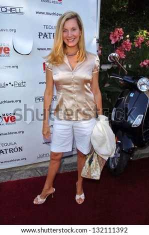 "MALIBU, CA - AUGUST 05: Megan Blake at ""Bow Wow Ciao"" to Benefit Much Love Animal Rescue on August 05, 2006 at John Paul and Eloise Dejoria Estate in Malibu, CA. - stock photo"