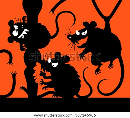 malicious mouses silhouettes