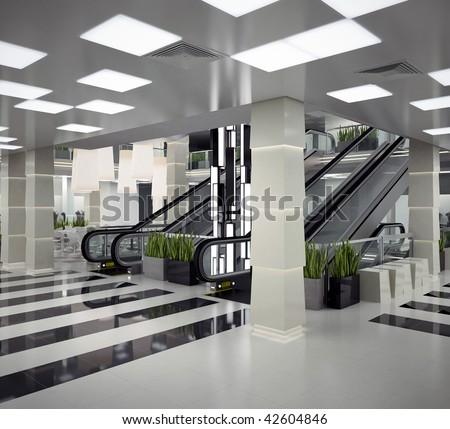 Mall interior design - stock photo