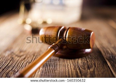 Mallet of judge - stock photo