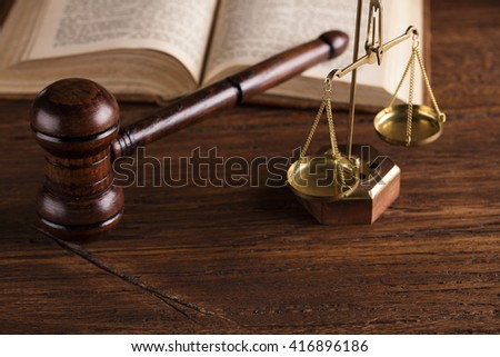 mallet of the judge - stock photo