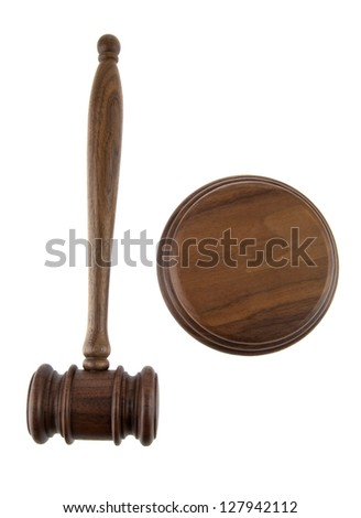 mallet on a white background - stock photo