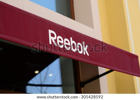 MALLORCA - JULY 31, 2015: Reebok Store in Festival Park Outlet in Mallorca.