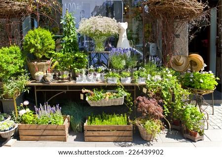 MALMO, SWEDEN - JUNE 30: Florist shop in the center of Malmo on June 30, 2014 in Malmo - stock photo