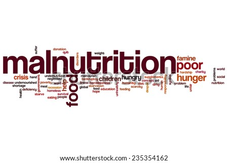 Malnutrition word cloud concept - stock photo