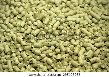 Malt background. Ingredient for beer. - stock photo
