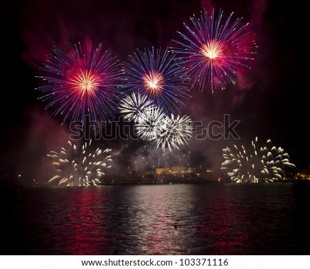 Malta Fireworks Festival - stock photo