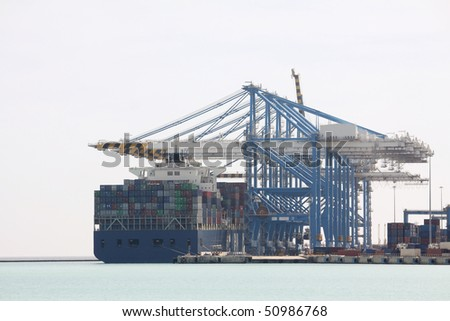 malta free-port showing stacked containers ready for transportation - stock photo