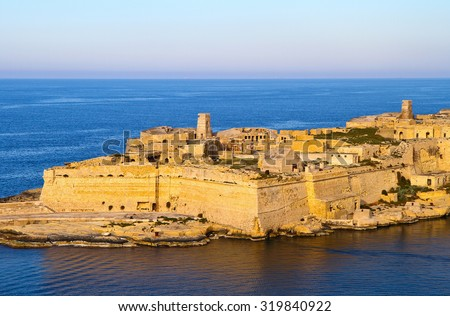 Malta La Valletta historic port - stock photo