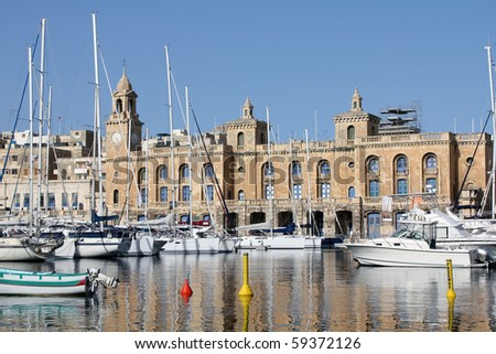 Maltese Maritime Museum in Cottonera Malta - stock photo
