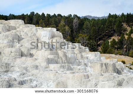 Mammoth Hot Springs, Yellowstone National Park - stock photo