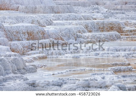 Mammoth Hot Springs, Yellowstone National Park, Wyoming, United states