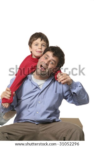 man and nice child together