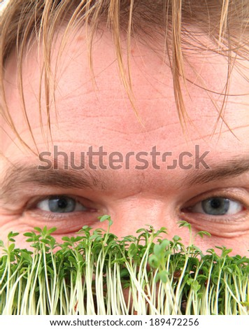 man and watercress - stock photo