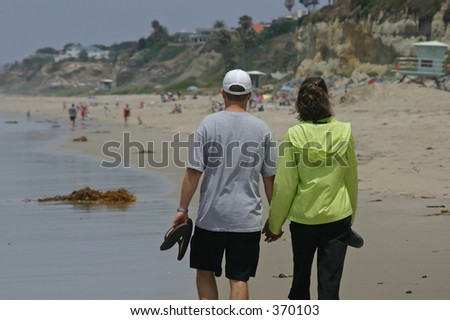 man and woman at the beach