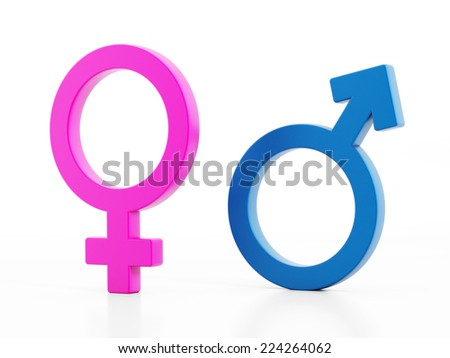 Man and woman gender signs