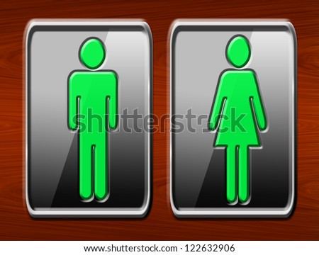 Man and woman sign - stock photo