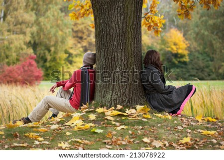 Man and woman thinking about sense of life - stock photo