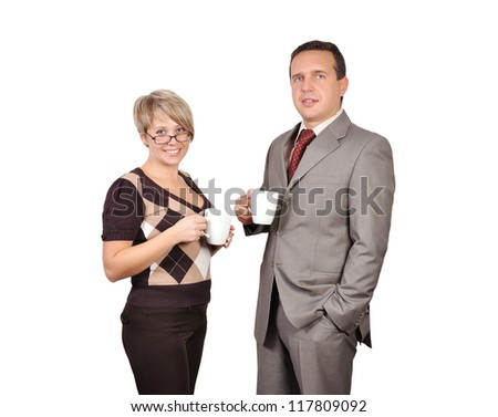 Man and woman with cup