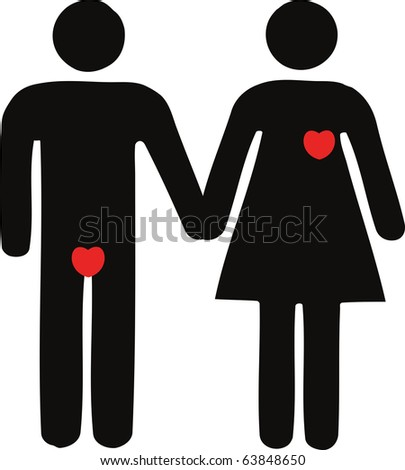 Man and women icons. - stock photo