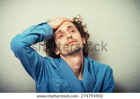 man annoyance - stock photo