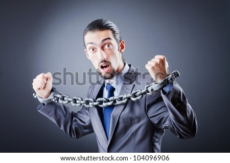 Man arrested for this crimes - stock photo