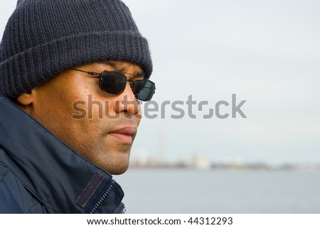 man at the waterfront