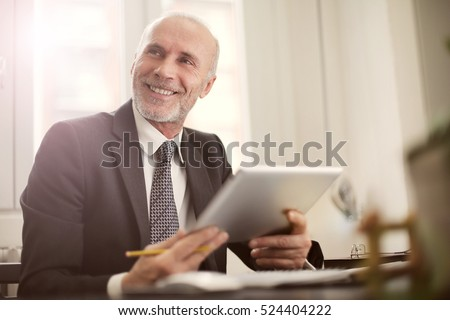 Man being happy at work