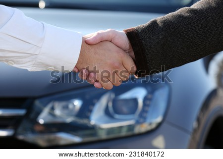 Man buying car - stock photo