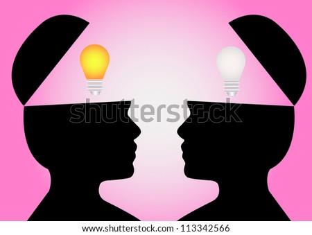 Man change  idea - stock photo