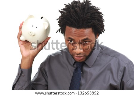 Man checking for spare change - stock photo