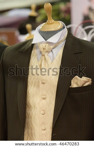 man costume on shop mannequins - stock photo