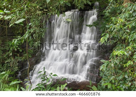 Man Daeng Waterfall in the forest, PhuHinRongKla National park, Thailand.