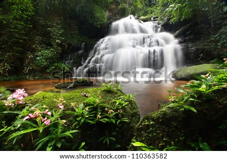 Man Daeng Waterfall, Phu Hin Rong Kla; National Park at Phitsanulok, Thailand - stock photo