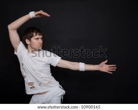 Man dancing - stock photo